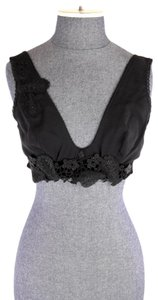 La Perla Embroidered Floral Sparkly Bralette Bra Top Black