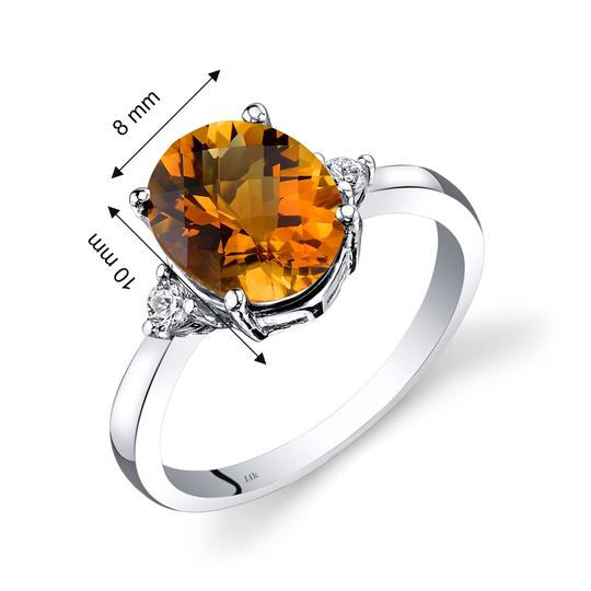 other Citrine Oval RIng Image 2