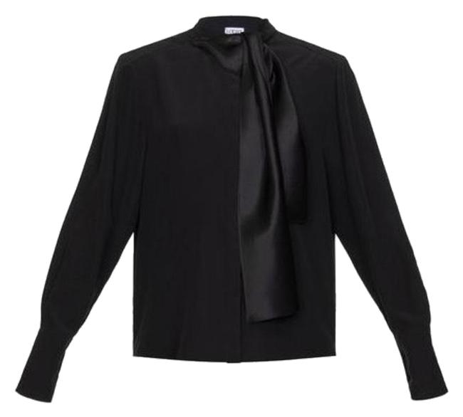 Preload https://img-static.tradesy.com/item/25340821/loewe-black-lavalliere-with-scarf-blouse-size-4-s-0-1-650-650.jpg