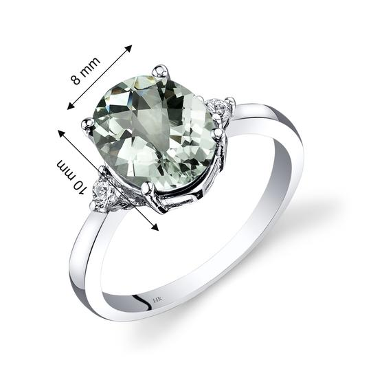 other Green Amethyst Oval RIng Image 2