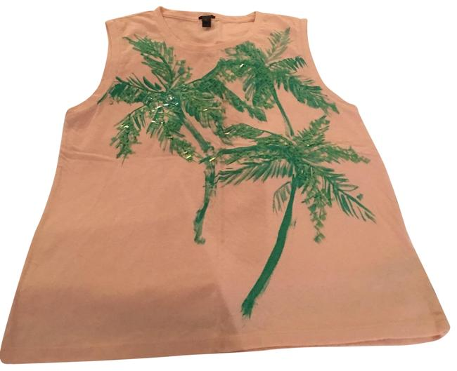 Item - Peach with Green Summer Tank Top/Cami Size 4 (S)