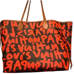 Louis Vuitton Tote in Orange and Brown