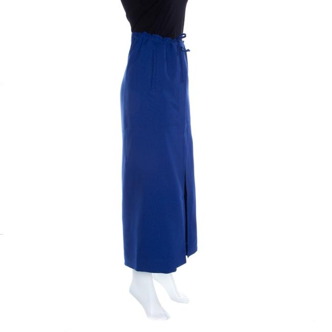 Issey Miyake Tie Polyester Trouser Pants Blue Image 1