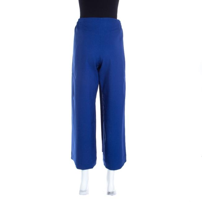 Issey Miyake Tie Polyester Trouser Pants Blue Image 2