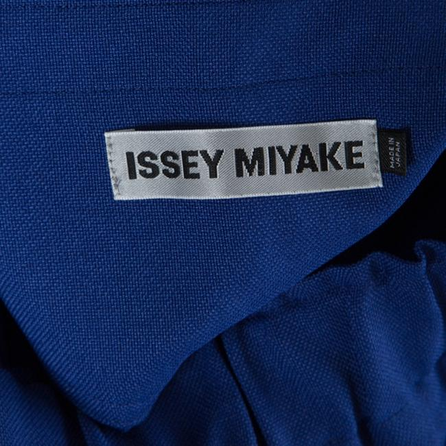 Issey Miyake Tie Polyester Trouser Pants Blue Image 4
