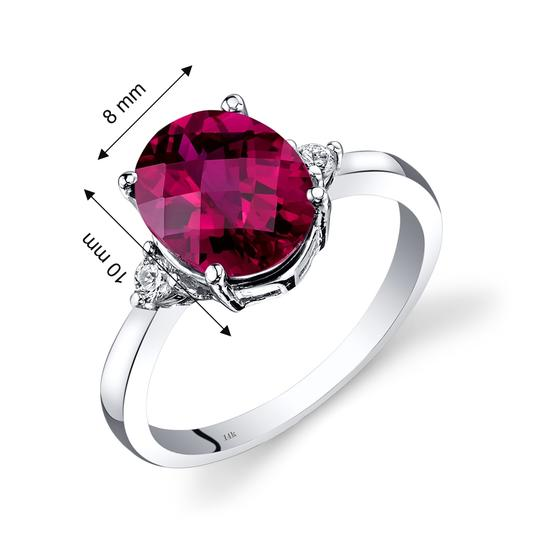 other Ruby Oval Ring Image 2