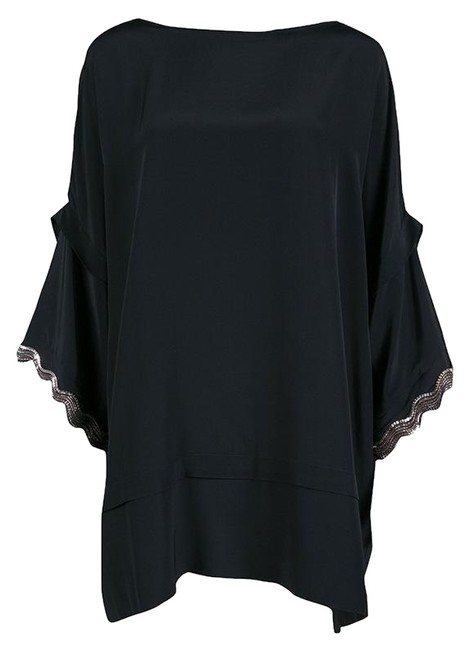 Preload https://img-static.tradesy.com/item/25340907/issa-london-black-silk-embellished-organza-trim-oversized-tunic-size-4-s-0-1-650-650.jpg