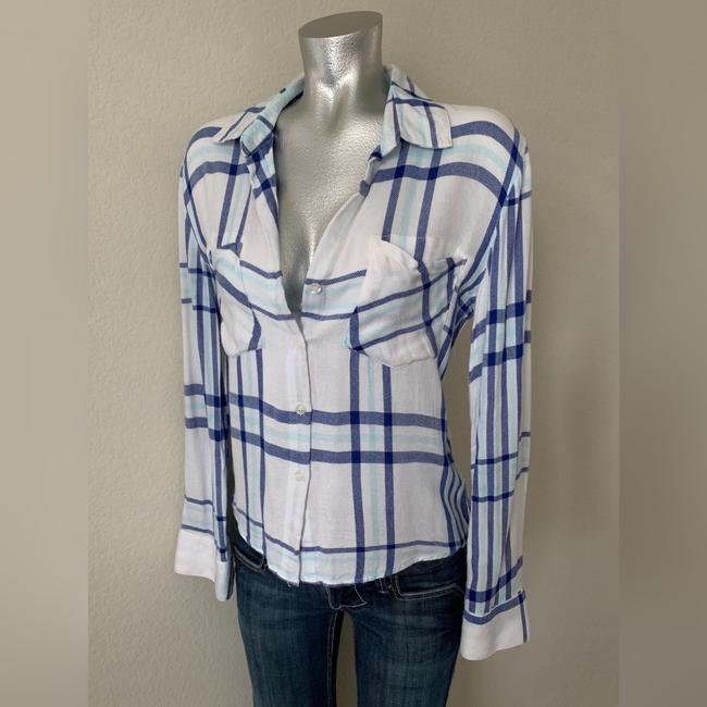 Vintage Havana Button Down Shirt Blue/White Image 2