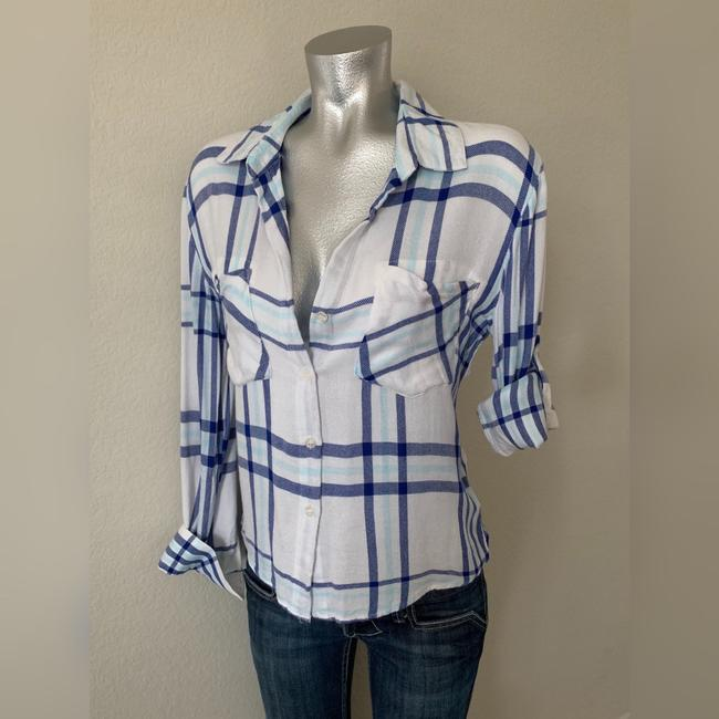 Vintage Havana Button Down Shirt Blue/White Image 8