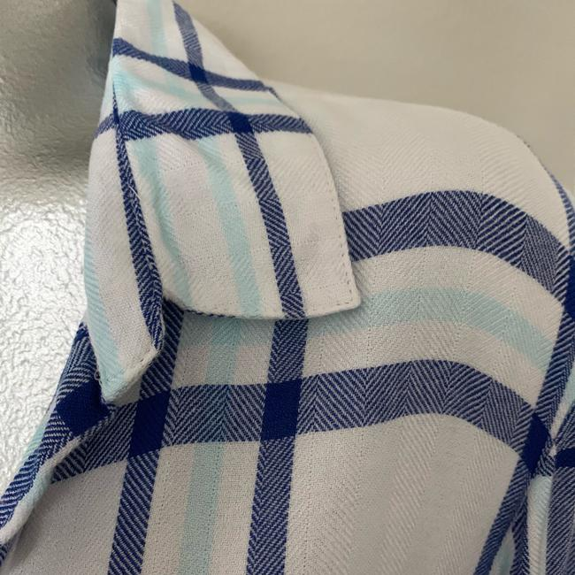 Vintage Havana Button Down Shirt Blue/White Image 9