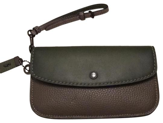 Coach Dark green Clutch Image 0