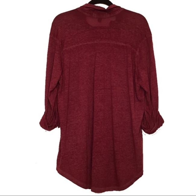 French Laundry Crystal Buttons Bling Plus Size Soft Button Down Shirt red Image 1