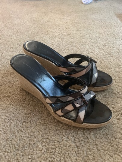 Burberry Burberry check and black Wedges Image 1