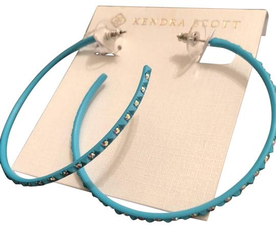 Preload https://img-static.tradesy.com/item/25341151/kendra-scott-turquoise-val-aqa-iridescent-crystal-hoops-earrings-0-1-540-540.jpg