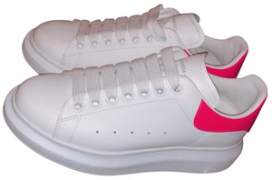 Alexander McQueen white and neon pink Athletic