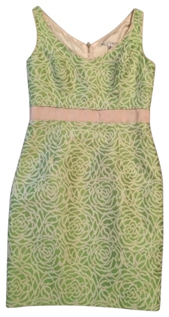 Preload https://img-static.tradesy.com/item/25341334/maggy-london-green-beige-floral-mid-length-night-out-dress-size-10-m-0-1-650-650.jpg