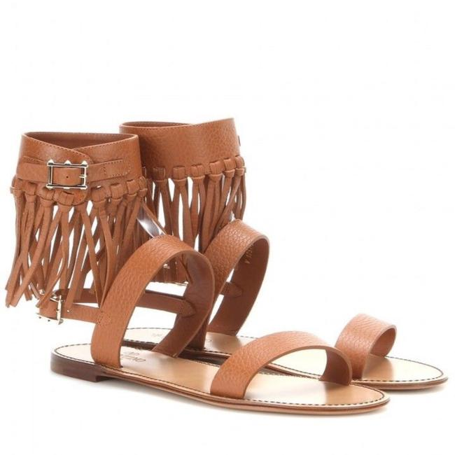 Item - Brown C-rockee Fringed Leather Sandals Size EU 38 (Approx. US 8) Regular (M, B)