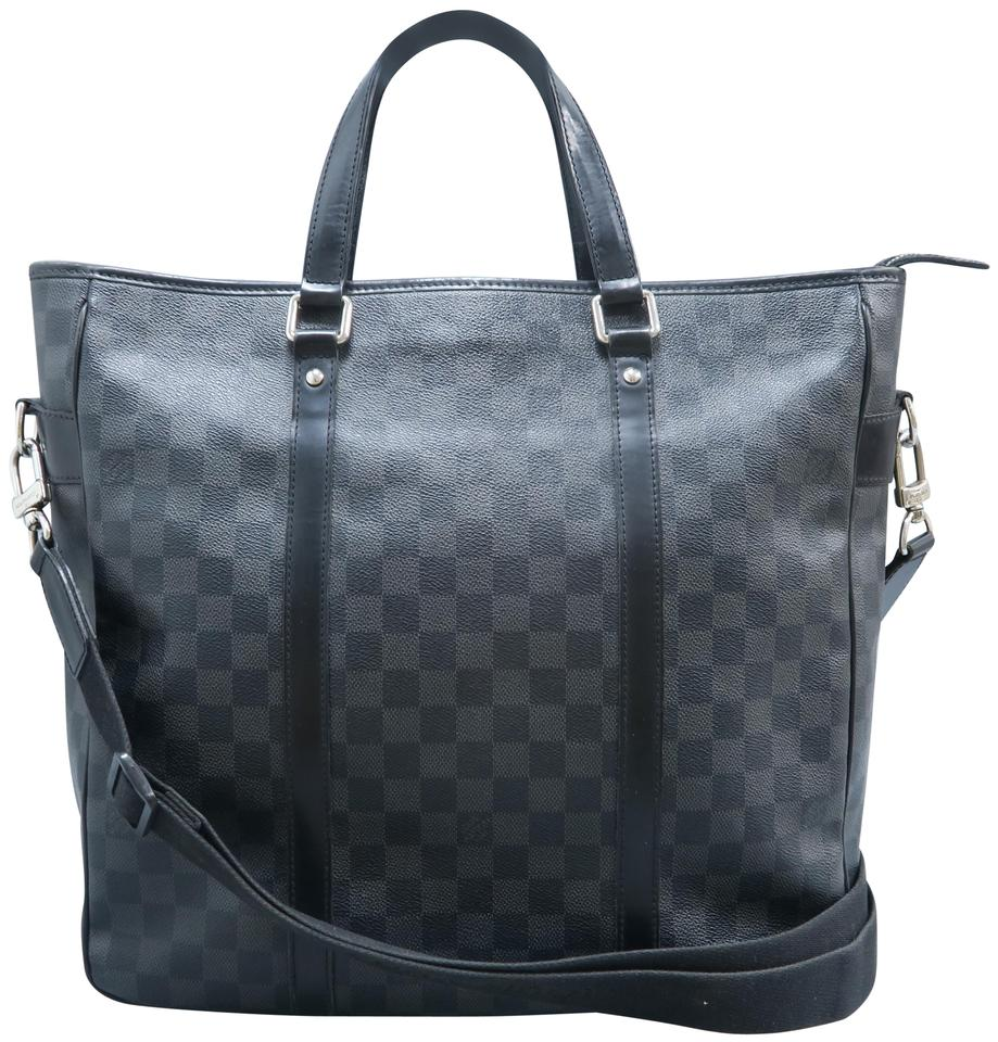 47643dc4dc Louis Vuitton Anton Briefcase Damier Graphite Black Canvas Satchel