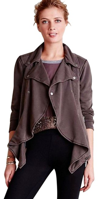 Anthropologie Fleece Lining Snap Closure Zip Super Soft + Comfy By Hei Hei Motorcycle Jacket Image 1