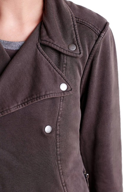 Anthropologie Fleece Lining Snap Closure Zip Super Soft + Comfy By Hei Hei Motorcycle Jacket Image 2