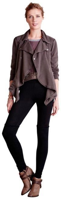 Anthropologie Fleece Lining Snap Closure Zip Super Soft + Comfy By Hei Hei Motorcycle Jacket Image 3