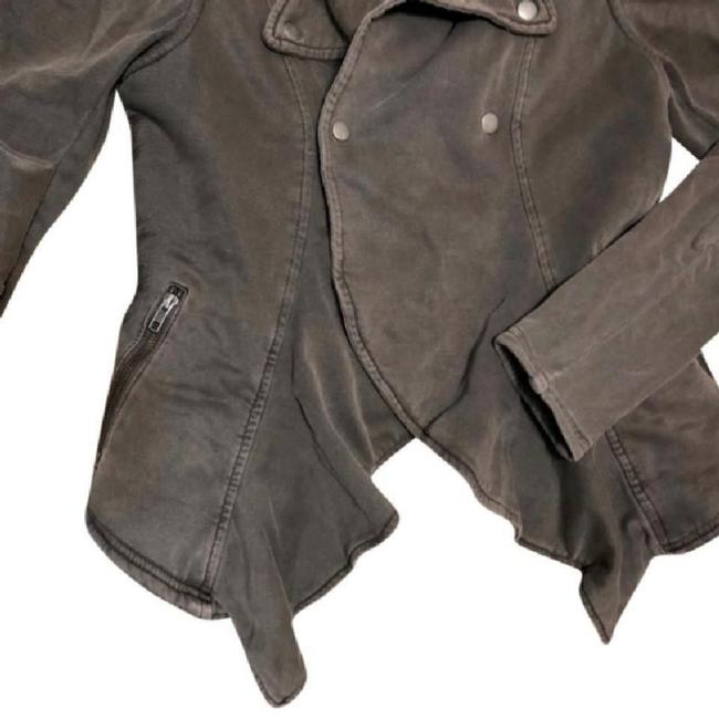 Anthropologie Fleece Lining Snap Closure Zip Super Soft + Comfy By Hei Hei Motorcycle Jacket Image 6