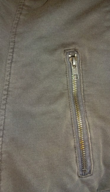 Anthropologie Fleece Lining Snap Closure Zip Super Soft + Comfy By Hei Hei Motorcycle Jacket Image 7