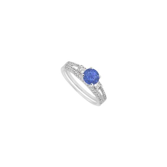 Preload https://img-static.tradesy.com/item/25341707/blue-princess-cut-cubic-zirconia-and-created-sapphire-engagement-with-ring-0-0-540-540.jpg
