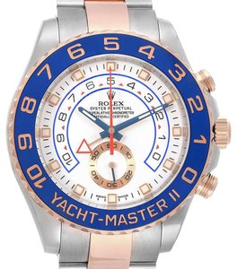 Rolex Rolex Yachtmaster II Stainless Steel 18k Rose Gold Mens Watch 116681