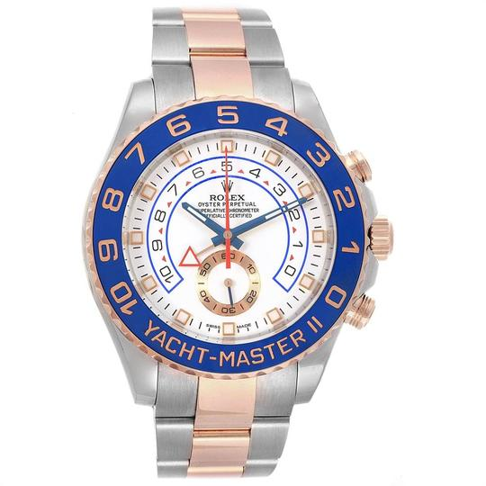 Rolex Rolex Yachtmaster II Stainless Steel 18k Rose Gold Mens Watch 116681 Image 1