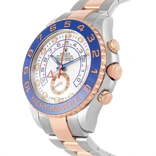 Rolex Rolex Yachtmaster II Stainless Steel 18k Rose Gold Mens Watch 116681 Image 3