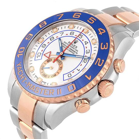 Rolex Rolex Yachtmaster II Stainless Steel 18k Rose Gold Mens Watch 116681 Image 4