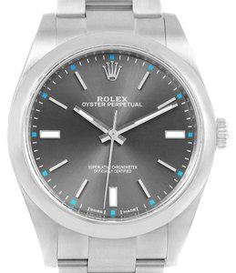Rolex Rolex Oyster Perpetual 39 Stainless Steel Mens Watch 114300 Box