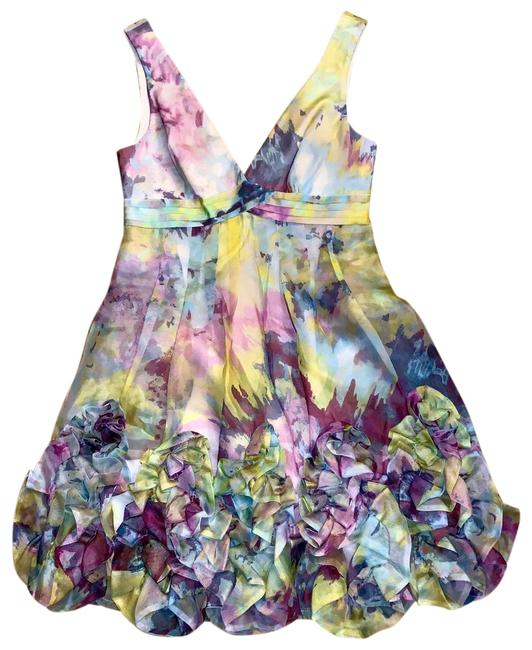 Item - Lavender Watercolor Floral Appliqué Mini Short Cocktail Dress Size 0 (XS)