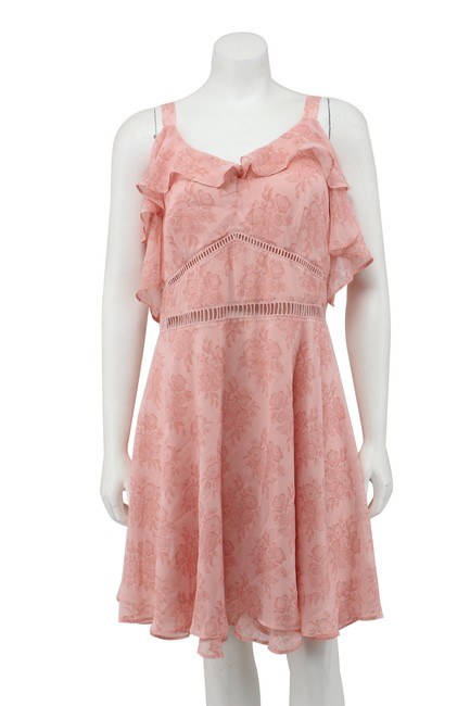 Preload https://img-static.tradesy.com/item/25341911/disney-pink-beauty-and-the-beast-floral-chiffon-cold-shoulder-short-casual-dress-size-16-xl-plus-0x-0-1-650-650.jpg
