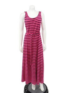 ea79ef90384 Pink Maxi Dress by Talbots Striped Sleeveless Belted Maxi