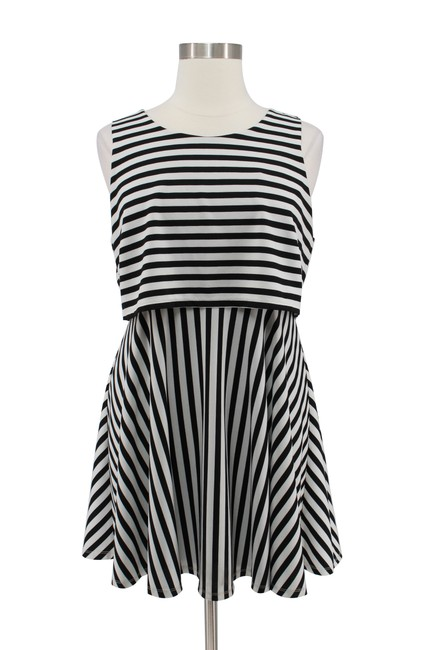 Preload https://img-static.tradesy.com/item/25341985/forever-21-black-white-and-striped-sleeveless-layered-short-casual-dress-size-20-plus-1x-0-0-650-650.jpg