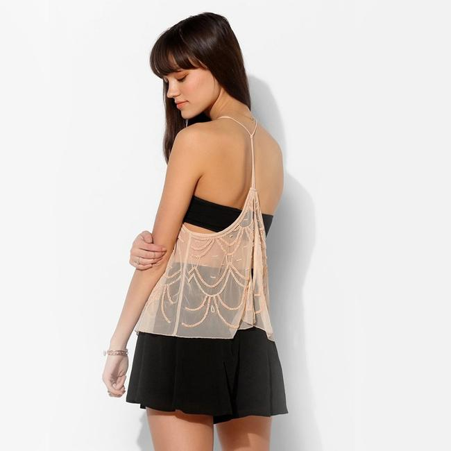 Kimchi Blue Urban Outfitters Chandelier Embellished Top Peach Image 1