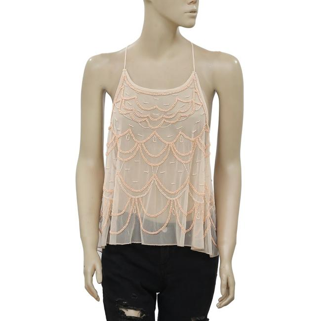 Kimchi Blue Urban Outfitters Chandelier Embellished Top Peach Image 3