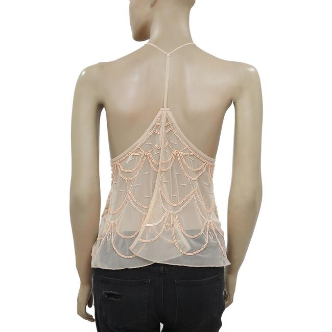 Kimchi Blue Urban Outfitters Chandelier Embellished Top Peach Image 5