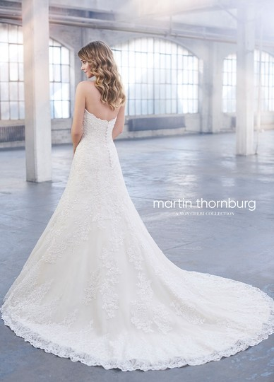 David Tutera for Mon Cheri White Unaltered Tulle and Hand-beaded Embroidered Lace Over Satin Style 215265 Katharine Formal Wedding Dress Size 8 (M) Image 1