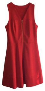 Vince Camuto short dress deep tangerine the perfect summer color on Tradesy