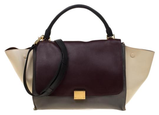 Céline Leather Tote in Multicolor Image 0