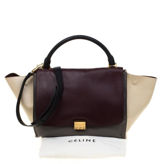 Céline Leather Tote in Multicolor Image 11