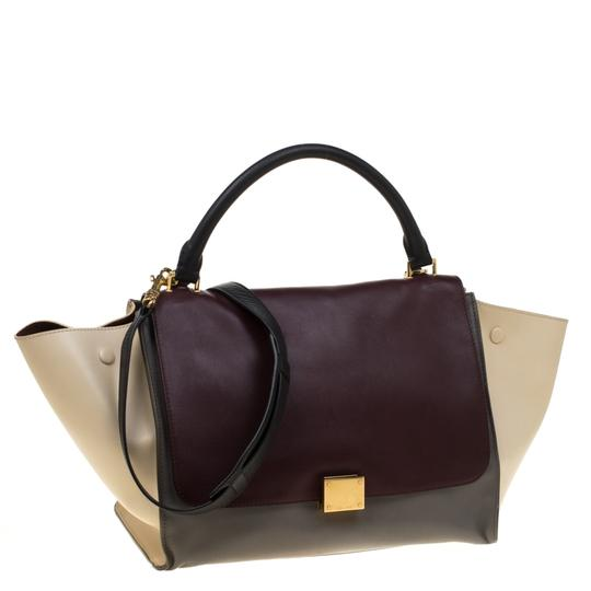 Céline Leather Tote in Multicolor Image 3