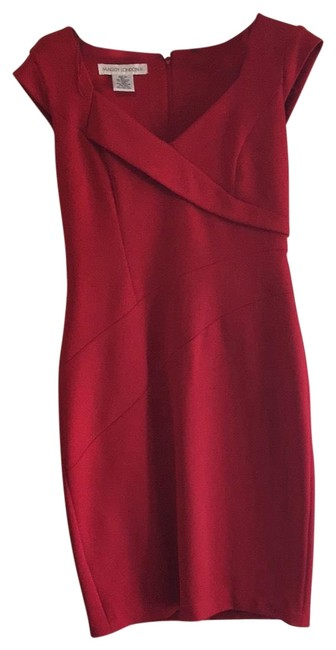 Item - Deep Cherry Red Fitted Day Or Short Night Out Dress Size 10 (M)
