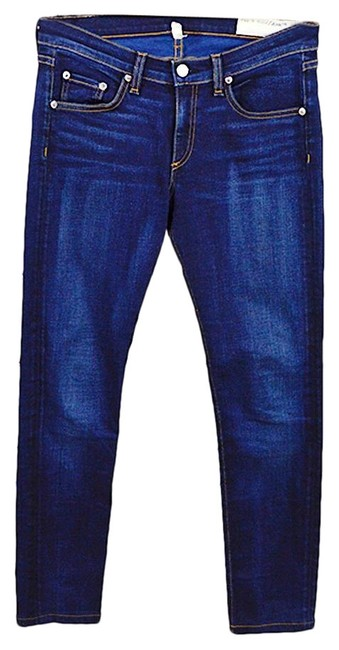 Item - Blue Dark Rinse 'woodford' #127-6 Skinny Jeans Size 27 (4, S)