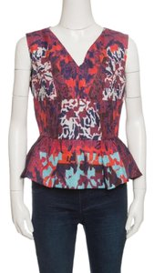Peter Pilotto Textured Silk Top Multicolor