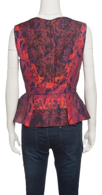 Peter Pilotto Textured Silk Top Multicolor Image 1