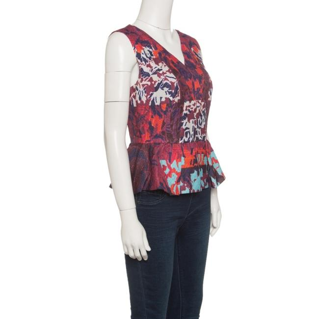 Peter Pilotto Textured Silk Top Multicolor Image 2
